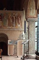 Italien, Lombardei, Fresken in San Vincenzo aus dem 11. Jh. in Cantú