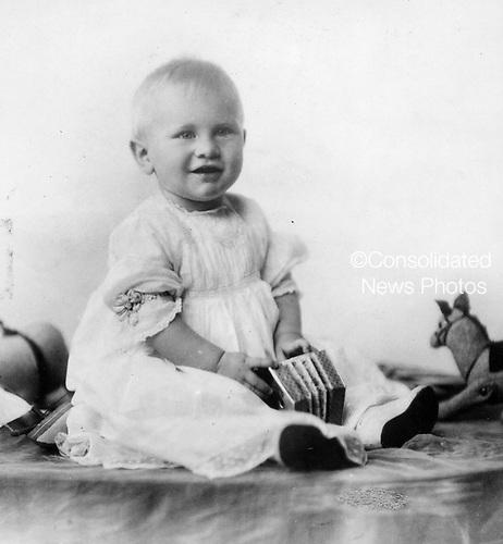 Ann Arbor, MI - FILE --  Portrait of Gerald R. Ford, named Leslie Lynch King, Jr. until 1916, around ten months old. Date: ca. June 1914<br /> Credit: Courtesy Gerald R. Ford Library via CNP