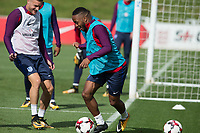 Raheem Sterling during the part open training session of the  England national football squad at St George's Park, Burton-Upon-Trent, England on 31 August 2017. Photo by James Williamson.