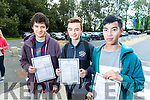 Students from CBS, The Green, pictured with their Junior Certificate results on Wednesday morning were l-r: Byron Mulvihill Conor O'Mahony and Rian Mclysaght, all from Tralee.