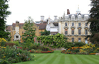 Clare College, Cambridge - view from the gardens.Cambridge, U.K - A variety of scenes at the historic university city of Cambridge, England -  September 2nd 2012..Photo by Keith Mayhew