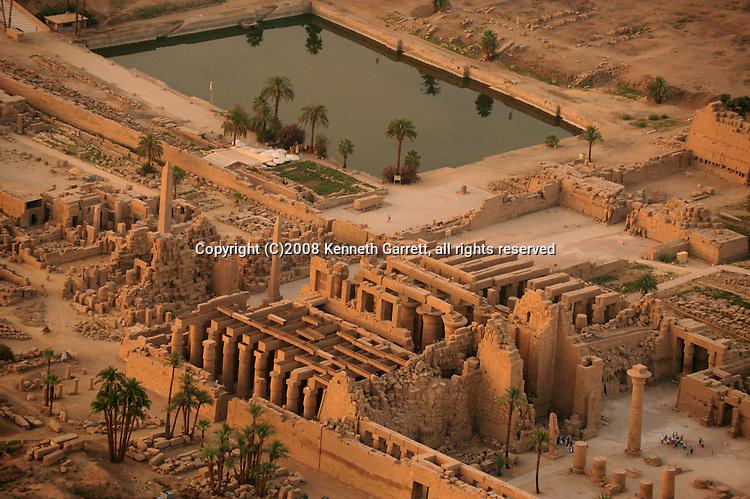 Hatshepssut, Egypt, Aerials, Karnak Temple