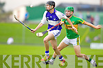 Cian Hussey Saint Brendans in action against Conor Fitzmaurice Lixnaw in the Senior County Hurling Final at Austin Stack Park Tralee on Sunday.
