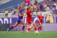 Orlando, FL - Sunday June 26, 2016: Dani Weatherholt, Allie Long  during a regular season National Women's Soccer League (NWSL) match between the Orlando Pride and the Portland Thorns FC at Camping World Stadium.