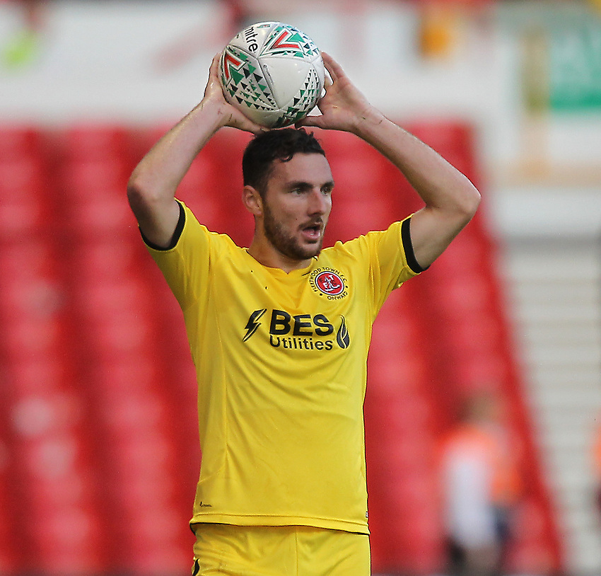 Fleetwood Town's Lewis Coyle<br /> <br /> Photographer Mick Walker/CameraSport<br /> <br /> The Carabao Cup First Round - Nottingham Forest v Fleetwood Town - Tuesday 13th August 2019 - The City Ground - Nottingham<br />  <br /> World Copyright © 2019 CameraSport. All rights reserved. 43 Linden Ave. Countesthorpe. Leicester. England. LE8 5PG - Tel: +44 (0) 116 277 4147 - admin@camerasport.com - www.camerasport.com
