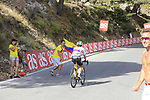 Colombian fans cheer on their National Champion Sergio Luis Henao (COL) Team Sky on the slopes of Sierra de la Alfaguara  during Stage 4 of the La Vuelta 2018, running 162km from Velez-Malaga to Alfacar, Sierra de la Alfaguara, Andalucia, Spain. 28th August 2018.<br /> Picture: Eoin Clarke   Cyclefile<br /> <br /> <br /> All photos usage must carry mandatory copyright credit (&copy; Cyclefile   Eoin Clarke)