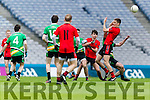 Colin McGillicuddy Glenbeigh Glencar in action against  Rock Saint Patricks in the Junior Football All Ireland Final in Croke Park on Sunday.