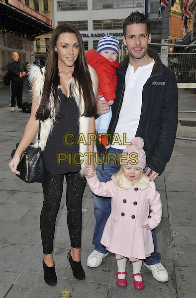LONDON, ENGLAND - DECEMBER 14: Michelle Heaton &amp; her family Aaron Jay Hanley, Hugh Hanley &amp; Faith Hanley attend the &quot;Annie&quot; gala film screening, Odeon West End cinema, Leicester Square, on Sunday December 14, 2014 in London, England, UK. <br /> CAP/CAN<br /> &copy;Can Nguyen/Capital Pictures