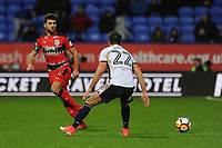 Tommy Smith of Huddersfield Town plays the ball past Filipe Morais of Bolton Wanderers during Bolton Wanderers vs Huddersfield Town, Emirates FA Cup Football at the Macron Stadium on 6th January 2018