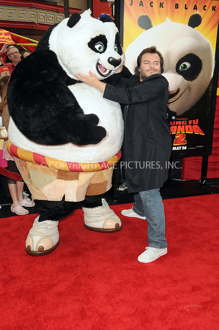 WWW.ACEPIXS.COM . . . . .  ....May 22 2011, LA....Actor Jack Black arriving at the premiere of  'Kung Fu Panda 2' at Mann's Chinese Theatre on May 22, 2011 in Hollywood, California....Please byline: PETER WEST - ACE PICTURES.... *** ***..Ace Pictures, Inc:  ..Philip Vaughan (212) 243-8787 or (646) 679 0430..e-mail: info@acepixs.com..web: http://www.acepixs.com