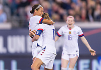 , FL - : Lynn WIlliams #27 of the United States celebrates with Tobin Heath #17 during a game between  at  on ,  in , Florida.