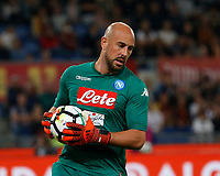 Pepe Reina during the  italian serie a soccer match, AS Roma -  SSC Napoli       at  the Stadio Olimpico in Rome  Italy , 14 ottobre 2017
