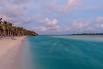 Dusk at Aitutaki Lagoon Resort & Spa on Aitutaki, Cook Islands