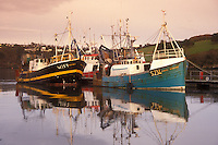 AJ0973, Europe, Republic of Ireland, Ireland, Kinsale, Fishing boats docked in Kinsale Harbor in County Cork.