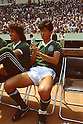 Kazuyoshi Miura (Palmeilas), MAY 18, 1986 - Football : Kazuyoshi Miura of Palmeilas on the bench during the KIRIN Cup 1986 match between Palmeilas 2-4 Werder Bremen at National Stadium in Tokyo, Japan. (C)Shinichi Yamada/AFLO (348)