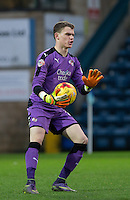 Goalkeeper Callum Preston of Crawley Town during the Sky Bet League 2 match between Wycombe Wanderers and Crawley Town at Adams Park, High Wycombe, England on 28 December 2015. Photo by Andy Rowland / PRiME Media Images