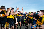 Dr Crokes players celebrate after winning the Kerry County Senior Club Football Championship Final match between Dr Crokes and Dingle at Austin Stack Park in Tralee, Kerry on Sunday.