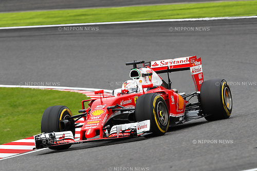 Sebastian Vettel (GER), <br /> OCTOBER 9, 2016 - F1 : Japanese Formula One Grand Prix Final <br /> at Suzuka Circuit in Suzuka, Japan. (Photo by Sho Tamura/AFLO) GERMANY OUT