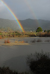 rainbow and Russian River at high water