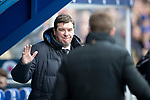 Rangers v St Johnstone&hellip;16.02.19&hellip;   Ibrox    SPFL<br />Tommy Wright and Steven Gerrard greet each other before kick off<br />Picture by Graeme Hart. <br />Copyright Perthshire Picture Agency<br />Tel: 01738 623350  Mobile: 07990 594431