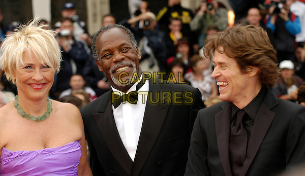 "DANNY GLOVER & WILLEM DAFOE.""Manderlay"" screening at the Grand Theatre during the 58th International Cannes Film Festival..May 16th, 2005.headshot portrait laughing.www.capitalpictures.com.sales@capitalpictures.com.©Capital Pictures"