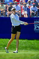 Kim Kaufman (USA) watches her tee shot on 1 during Sunday's final round of the 2017 KPMG Women's PGA Championship, at Olympia Fields Country Club, Olympia Fields, Illinois. 7/2/2017.<br /> Picture: Golffile   Ken Murray<br /> <br /> <br /> All photo usage must carry mandatory copyright credit (&copy; Golffile   Ken Murray)