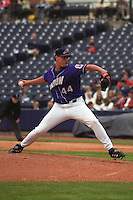 Akron Aeros pitcher Jake Cressend (44) delivers a pitch during a game against the Altoona Curve at Canal Park circa May 2003 in Akron, Ohio.  (Mike Janes/Four Seam Images)