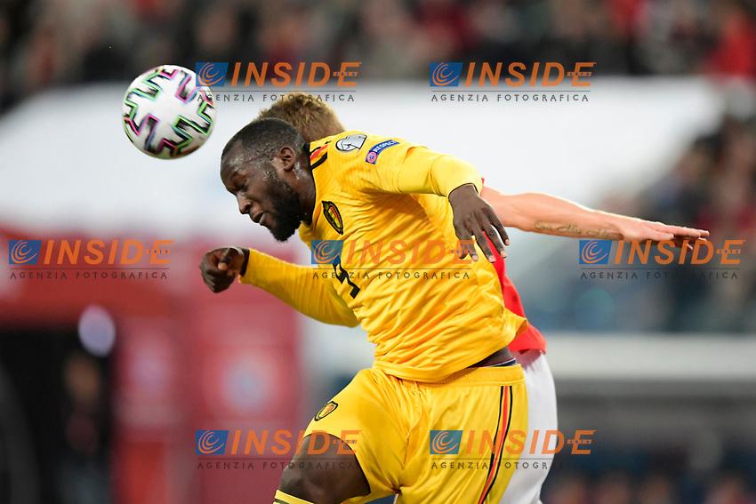 Romelu Lukaku forward of Belgium  <br /> Saint Petersbourg  - Qualification Euro 2020 - 16/11/2019 <br /> Russia - Belgium <br /> Foto Photonews/Panoramic/Insidefoto <br /> ITALY ONLY