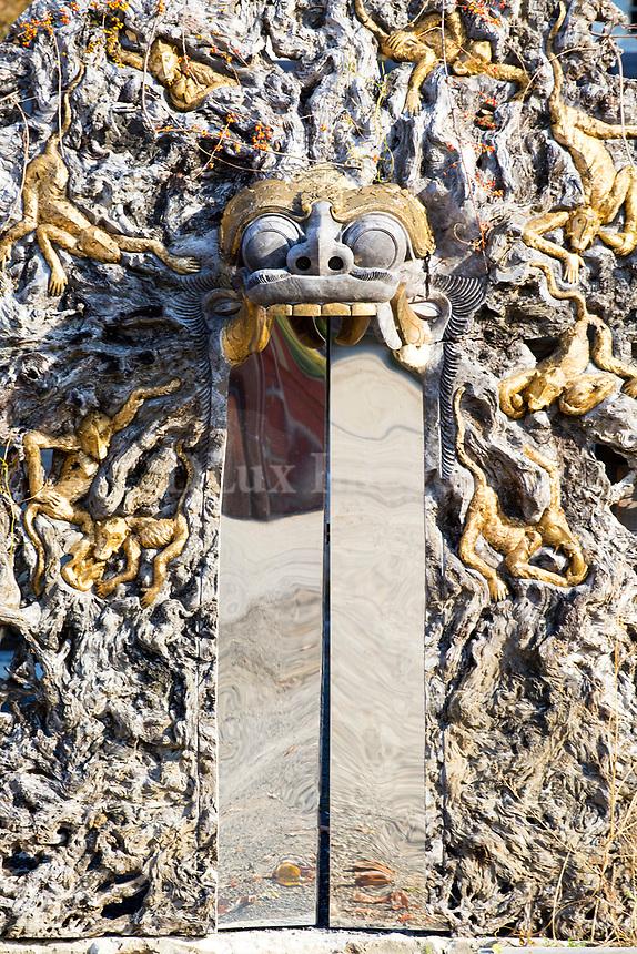 Asian sculpture close up