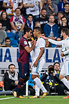 Carlos Henrique Casemiro (r) of Real Madrid confronts with Jose Angel Valdes Diaz (l) of SD Eibar during the La Liga 2017-18 match between Real Madrid and SD Eibar at Estadio Santiago Bernabeu on 22 October 2017 in Madrid, Spain. Photo by Diego Gonzalez / Power Sport Images