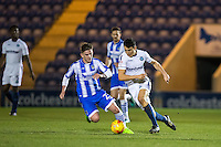 Luke O'Nien of Wycombe Wanderers & Sean Murray of Colchester United during the Sky Bet League 2 match between Colchester United and Wycombe Wanderers at the Weston Homes Community Stadium, Colchester, England on 21 February 2017. Photo by Andy Rowland / PRiME Media Images.