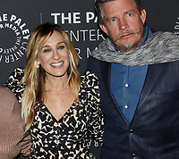 www.acepixs.com<br /> <br /> February 8 2018, New York City<br /> <br /> Actors Thomas Haden Church and Sarah Jessica Parker arriving at an evening with the cast of 'Divorce' at The Paley Center for Media on February 8, 2018 in New York City. <br /> <br /> By Line: Nancy Rivera/ACE Pictures<br /> <br /> <br /> ACE Pictures Inc<br /> Tel: 6467670430<br /> Email: info@acepixs.com<br /> www.acepixs.com