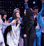 Micaela diamond, Teal Wicks, Michael Berresse and Cher during the Broadway Opening Night Curtain Call of 'The Cher Show'  at Neil Simon Theatre on December 3, 2018 in New York City.