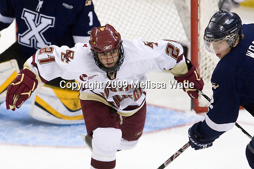 Steven Whitney (BC - 21), Brennan Wray (StFX - 12) - The Boston College Eagles defeated the St. Francis Xavier University X-Men 4-1 in their exhibition match on Sunday, October 4, 2009, at Conte Forum in Chestnut Hill, Massachusetts.