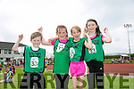 l-r  Darragh Harty, Sarah O'Sullivan, Siofra Murphy and Anna O'Sullivan from Spa, Fenit at the An Riocht  Community Games in Castleisland on Saturday