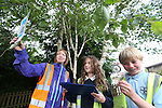 Pupils Sara Jones &amp; Steffan Evans from Iolo Morganwg   (Cowbridge) with Welsh Water teacher Mari Wort taking part in Bio Diversity Week at Welsh Water Education Centre Cog Moors.<br /> <br /> 24.06.13<br /> &copy;Steve Pope-FOTWALES