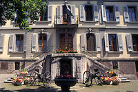 Vevey, Switzerland, Vaud, Prefecture (town hall) in downtown Vevey in the Canton of Vaud.