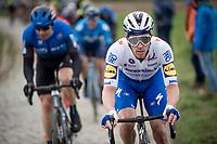 Iljo Keisse (BEL/Deceuninck-QuickStep) up the Oude Kwaremont<br /> <br /> 72nd Kuurne-Brussel-Kuurne 2020 (1.Pro)<br /> Kuurne to Kuurne (BEL): 201km<br /> <br /> ©kramon
