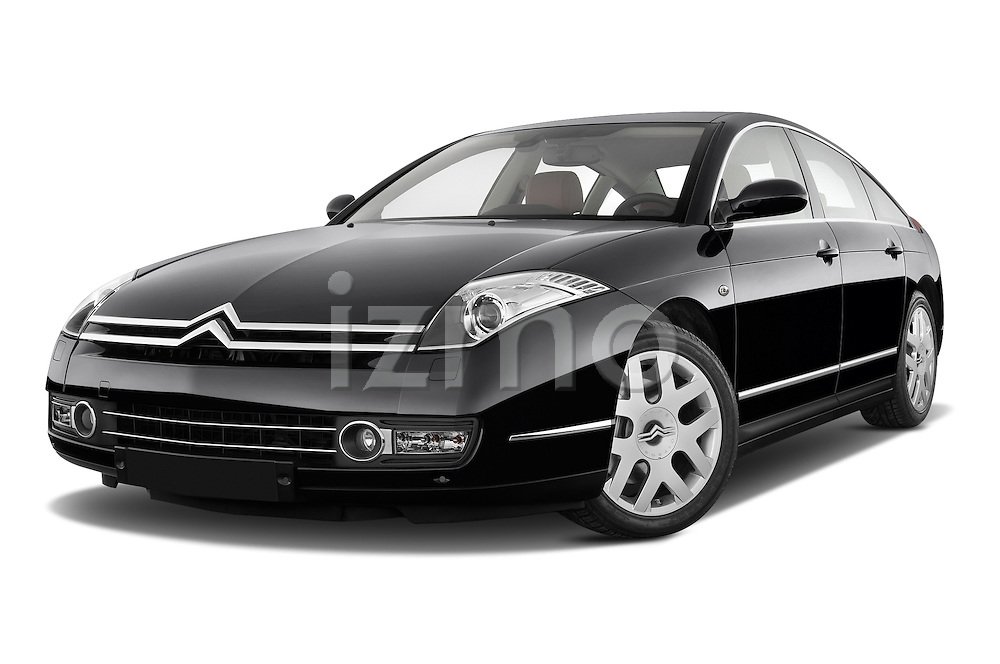 Low aggressive front three quarter view of a 2005 - 2012 Citroen C6 Exclusive Sedan.