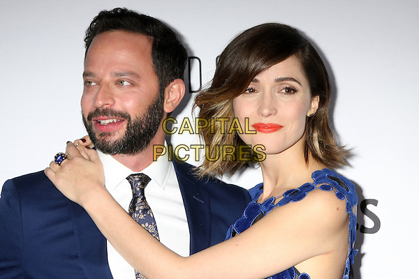 Nick Kroll, Rose Byrne at the premiere of 'Adult Beginners' at ArcLight Hollywood on April 15, 2015 in Hollywood, California. <br /> CAP/MPI/DC/DE<br /> &copy;DE/DC/MPI/Capital Pictures