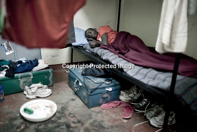 ELDORET, KENYA - MAY 19: Jonathan Kitum, age 16, in is bed early in the morning. He is a promising long distance runner. (Photo by:  Per-Anders Pettersson)