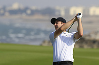 Ashley Chesters (ENG) during the first round of the NBO Open played at Al Mouj Golf, Muscat, Sultanate of Oman. <br /> 15/02/2018.<br /> Picture: Golffile | Phil Inglis<br /> <br /> <br /> All photo usage must carry mandatory copyright credit (&copy; Golffile | Phil Inglis)
