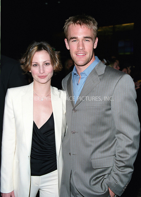 """Popular TV Series, """"Dawson's Creek"""" celebrating its 100th episode at the Museum of Television and Radio in New York. Pictured: JAMES VAN DER BEEK with his girlfriend HEATHER. February 19, 2002. © 2002 by Alecsey Boldeskul/NY Photo Press.   ..*PAY-PER-USE*      ....NY Photo Press:  ..phone (646) 267-6913;   ..e-mail: info@nyphotopress.com"""