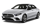 2019 Mercedes Benz A-Class - 4 Door Sedan Angular Front automotive stock photos of front three quarter view