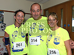 Marcella McDonald, Adrian Sharkey and Hilda McConnon who took part in the Seamie Weldon 5K Run in Ardee. Photo:Colin Bell/pressphotos.ie