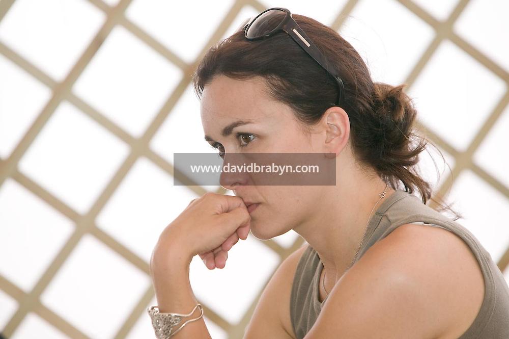 Eleonore Faucher, dejeuner de presse, 20 ans de la Fondation Groupama-Gan pour le Cinema, Cannes, France, 18 mai 2007.