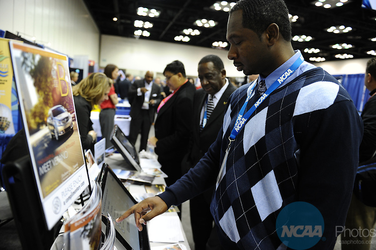 11 JAN 2012:  The NCAA Convention tradeshow held at the JW Marriott and Indianapolis Convention Center in Indianapolis, IN.  Joshua Duplechian/NCAA Photos.Pictured: