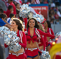 CARSON, CA - April 1, 2012: Chivas Cheerleaders during the Chivas USA vs Sporting KC match at the Home Depot Center in Carson, California. Final score Sporting KC 1, Chivas USA 0.