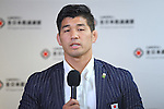 Kosei Inoue (JPN), <br /> AUGUST 15, 2016 - Judo : <br /> Japaese Judo medalist attend a media conference at Narita Airport in Chiba, Japan. Japanese Judo players won 3 gold medals, 1 silver medal and 8 bronze medals in the Rio 2016 Olympic Games. (Photo by AFLO SPORT)