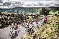 Chloe Dygert (USA) up Cray Hill<br /> <br /> Elite Women Road Race from Bradford to Harrogate (149km)<br /> 2019 Road World Championships Yorkshire (GBR)<br /> <br /> ©kramon